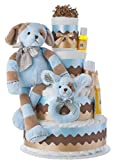 Lil' Baby Cakes Barker the Puppy Dog Diaper Cake for Boys