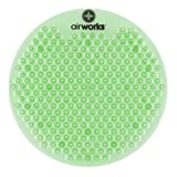 """AirWorks AWSFUS232-BX Splash Free Urinal Screen, Fresh Garden, 0.22 lb, 8"""" Height, 6"""" Width, Green (Pack of 10)"""