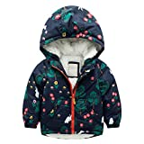 CSSD Baby Girl Boy Winter Cotton Hoodie Coat Jacket Thick Warm Zipper Outwear Clothes (7T, Green)