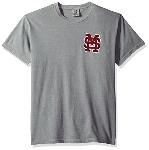 - NCAA Mississippi State Bulldogs State Baseball Lace Short Sleeve T-Shirt, Medium,Grey