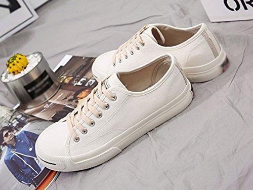 scarpe studenti uomo selvaggi scarpe Scarpe di del amanti bianca marea tela da vento WFL B708w