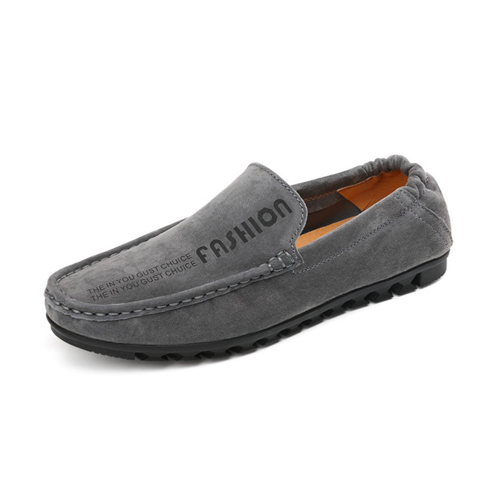 CAI Herren Schuhe Wildleder/PU Loafers 2018 Frühjahr/Herbst/Winter Komfort/Light Sohlen Loafers  SlipOns Herren Wanderschuhe/Fahr Schuhe (Farbe : Grau  Größe : 44) Grau