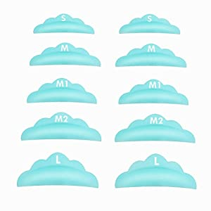 Libeauty Softer Lash Lift Pads Shields DIY Eyelash Lift Pads at Home 10 Pcs Sky Blue Eyelash Perm Rods 5 Size SMM1M2L Reusable Silicone Eye Lash Lifting Tools(Mix)…
