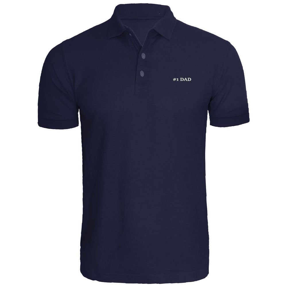 Mens #1 Dad Embroidery Embroidered Polo Shirts