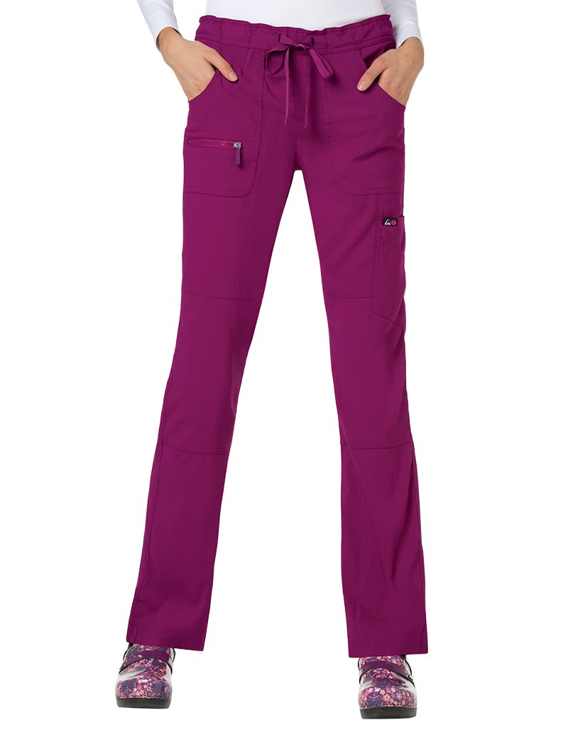 KOI Lite Women's Peace Drawstring Scrub Pant X-Small Tall Mulberry by KOI