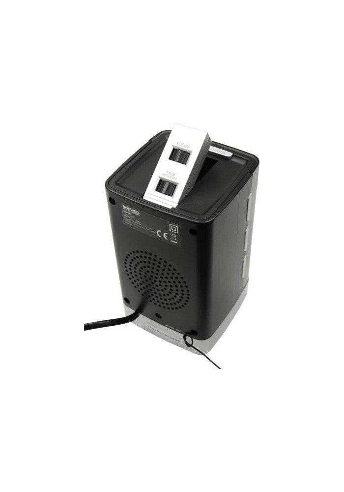 Daewoo DCP-29 Reloj Negro - Radio (Reloj, LCD, Negro, Tiempo, CR2032, 84 mm): Amazon.es: Electrónica