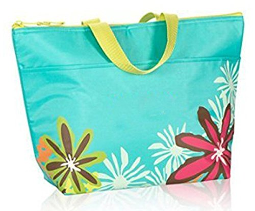 Thirty One Thermal Tote In Turquoise With Daisy Craze   No Monogram   3000