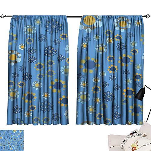 (Hariiuet Curtain tiebacks Seamless Pattern with Cute Cartoon Daisy Flowers 54