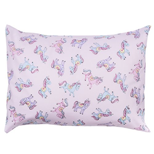 The Toddler Pillow Co. Unicorns Pillowcase – Handcrafted in USA – Perfect Fit for 13×18 and 13×19 Pillows
