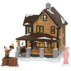 Department 56 A Christmas Story Village Ralphie's House Holiday Gift Set Village Lit House, 8 inch height