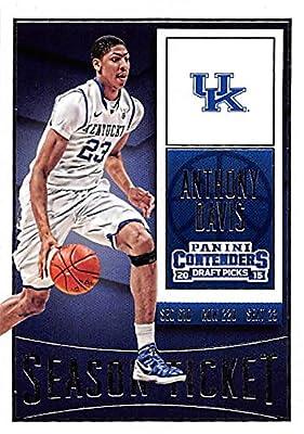 Anthony Davis basketball card (Kentucky Wildcats) 2015 Panini Draft Picks #9