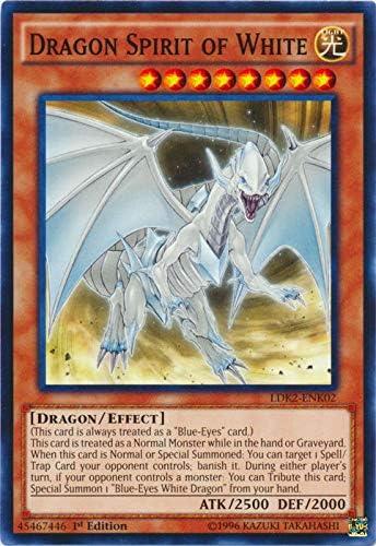 Unlimited Edition NM YuGiOh! 1x Dragon Spirit of White Common LDK2-ENK02
