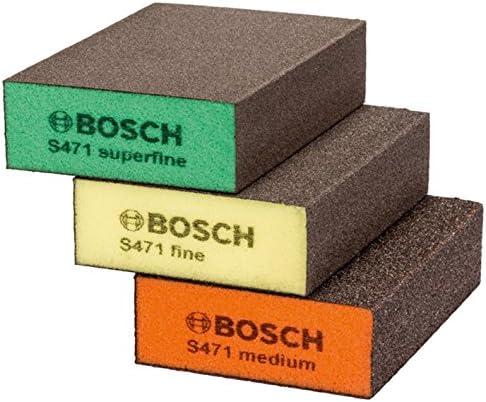 Bosch 2608621252/spugna abrasiva set/ pezzi /blu