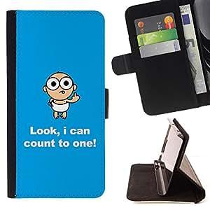 BullDog Case - FOR/LG G3 / - / numbers baby funny child quote joke /- Monedero de cuero de la PU Llevar cubierta de la caja con el ID Credit Card Slots Flip funda de cuer