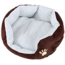 Pet Dog Puppy Cat Soft Fleece Warm Bed House Plush Cozy Nest Mat Pad 5 Color S