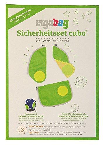 CUBO Sicherheitsset Fluoreszierende Zip-Flächen Grün