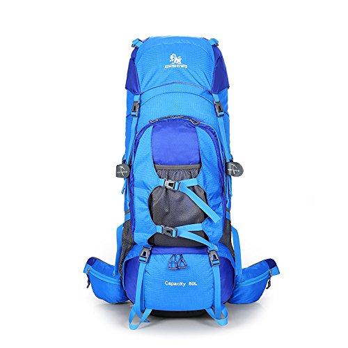 バックパック、男性と女性のための大容量アウトドアトラベルバックパックウィルダネスバックパック防水バックパックアウトドアレジャートラベルバックパック   B07NVKR49Z