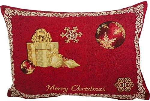 Merry Christmas - Cojín Navidad Rojo Tapiz CA 35 x 45 cm ...