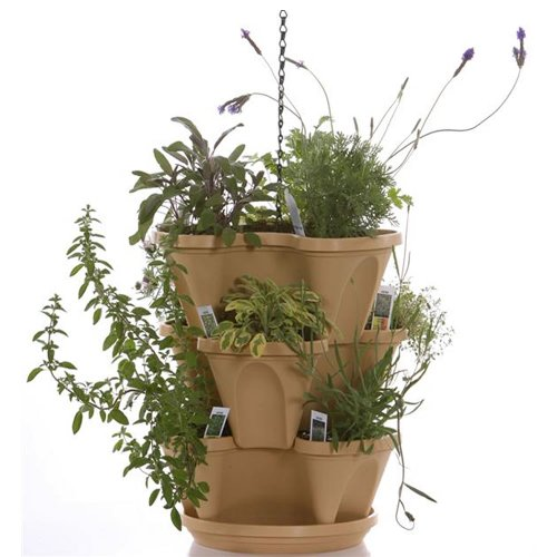 (Self Watering Stackable Planters - 3 Tier Set - Tuscany (12