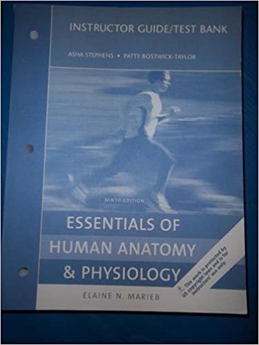 Essentials of human anatomy and physiology 9th e instructor guide essentials of human anatomy and physiology 9th e instructor guide and test bank gr 9 12 bostwick taylor stephens 9780321531285 amazon books fandeluxe Images