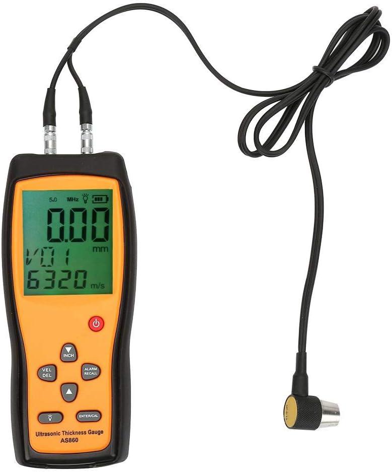 testeur d/'/épaisseur /à ultrasons num/érique AS860 de poche outil de v/élocit/é sonore testeur d/'/épaisseur /&agr Jauge d/'/épaisseur /à ultrasons num/érique avec capteur intelligent