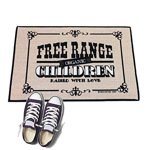 HIGH COTTON Free Range Children Funny Door mat