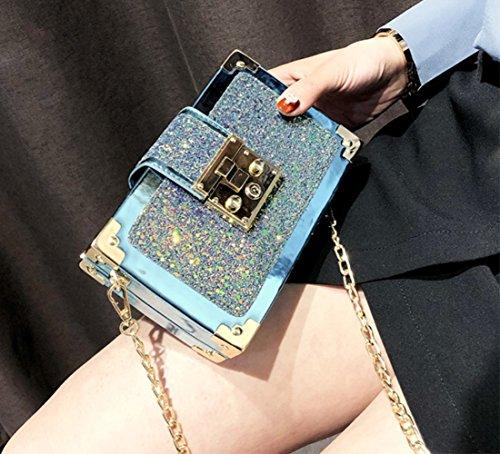 A Multicolore Catena Borsa Shishang Blu Tracolla Nero colore Borse Zyxcc Moda qEpXR