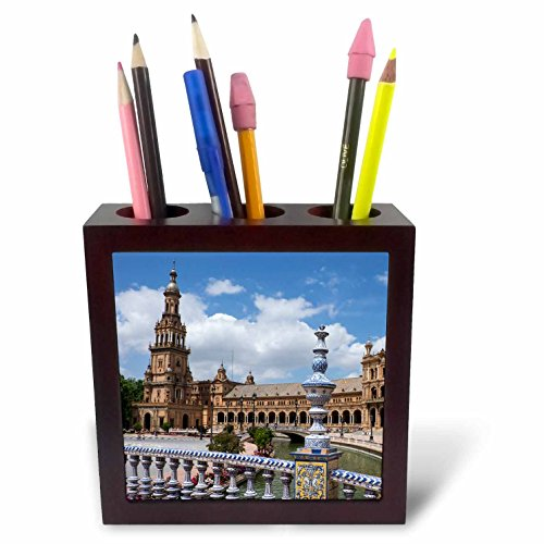 3dRose Danita Delimont - Spain - Spain, Andalusia, Seville. Plaza de Espana scenic. - 5 inch tile pen holder (ph_277897_1) by 3dRose