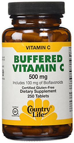 Country Life, buffered Vitamin C with Bioflavonoids 500 Milligram Tablets, 250 - C Buffered Vitamin Complex