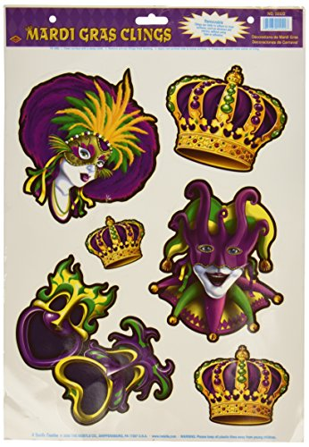 Mardi Gras Clings Party Accessory (1 count) (6/Sh)