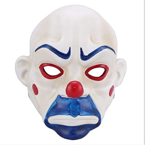 ZHANGWENXIN Adulto Resina Joker Banco Robo máscara Payaso Batman ...