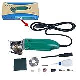 YaeTek 50mm 2'' Rotary Blade Electric Round Cloth Cutter Fabric Mini Cutter Shears Cloth Scissors Cutting Machine Tool 110V