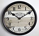 Vintage Barnwood Wall Clock, Available in 8 Sizes, Most Sizes Ship 2-3 Days, Whisper Quiet.