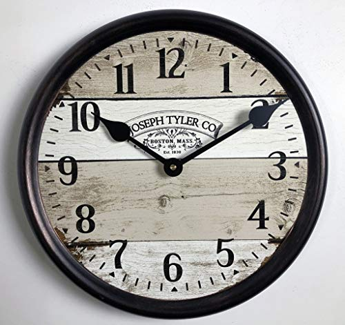 Cheap Vintage Barnwood Wall Clock, Available in 8 Sizes, Most Sizes Ship 2-3 Days, Whisper Quiet.