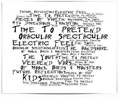 MGMT Poster Print Oracular Spectacular Lyrics Gift Signed Art