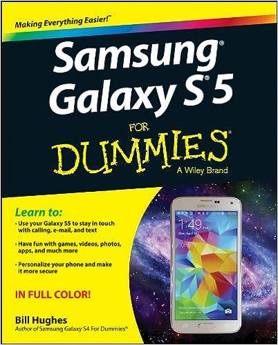 Amazon Samsung Galaxy S5 For Dummies 9781118920268 Bill