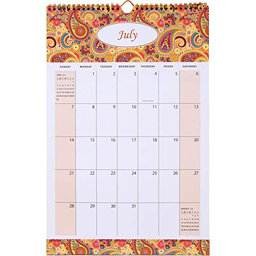 AUROLUXE 2019-2020 Wall Calendar Academic Year Monthly Wirebound - 11