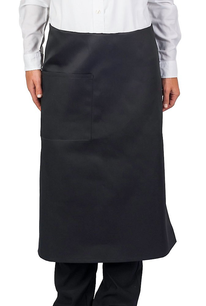 KNG Pack Of 6 - Black Full Bistro Apron, 30 Inch by KNG