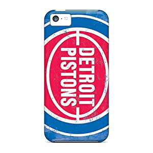 Protective Cases With Fashion Design For Iphone 5c (detroit Pistons)