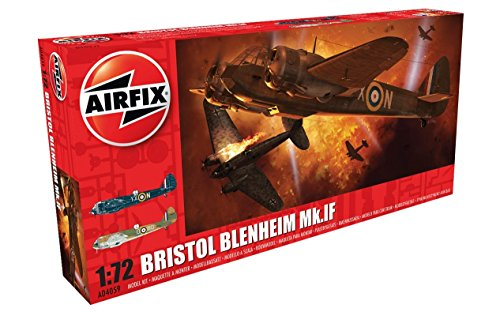 Airfix A04059 Bristol Blenheim MK IF Military Plastic Model Kit (1:72 Scale)