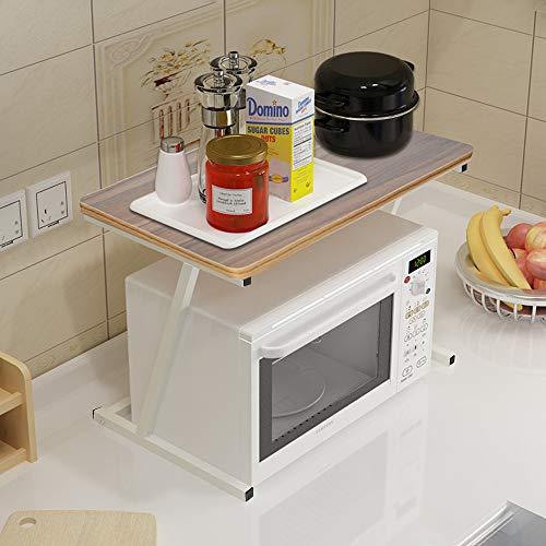 Xindda Utility Storage Shelf, Kitchen Microwave Oven 2 Tier Shelf Kitchen Storage Shelf 23.6×13.8inch, Ship from USA - Oven Tier Double Toaster