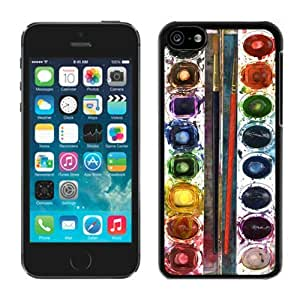 BINGO cheap price Watercolor Sets Witeh Brushes 16 iPhone 5C Case Balck Cover