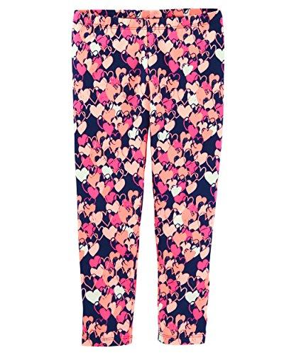 Osh Kosh Toddler Girls' Full Length Legging, Multi Heart, 4T Oshkosh Heart