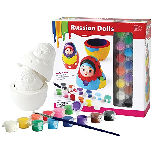 Make Russian Nesting Dolls (Paint Your Own Russian Nesting Dolls Kit)