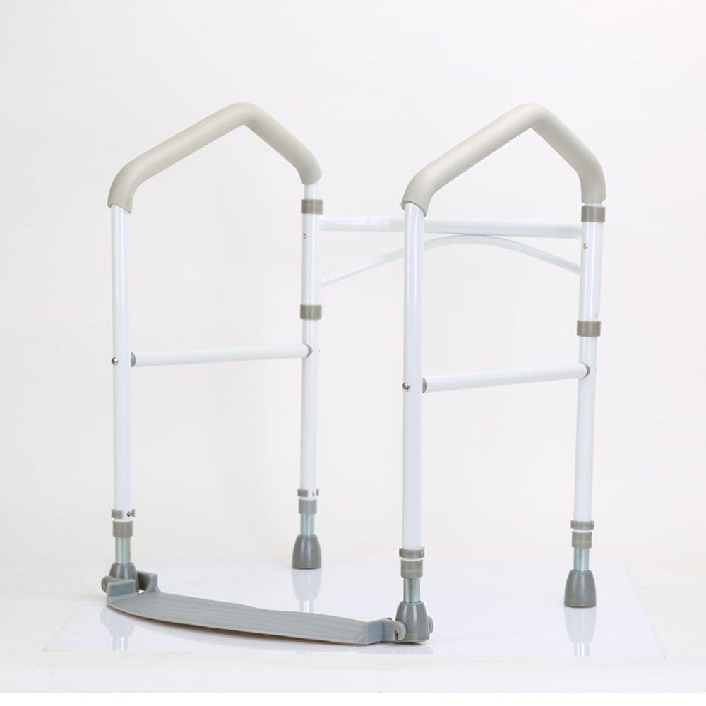 FEIFEI 折りたたみ式の滑り止めセーフティトイレアームレストステントを老人に適用妊婦(モノクロ) ( 色 : 白 ) B07C6XCMDX 白 白