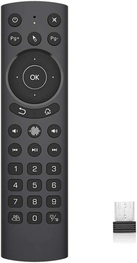 WeChip G20S Pro Backlight Voice Air Remote USB Wireless Replacement Remote Keyboard for Nvidia Shield TV/Android TV Box/PC/Smart TV/Protector/HTPC (Renewed)