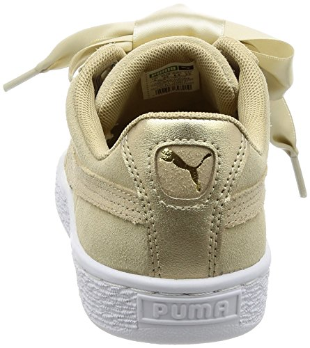 Mode Puma Basket Femme Safari Beige Safari Suede Heart safari waHqrIa