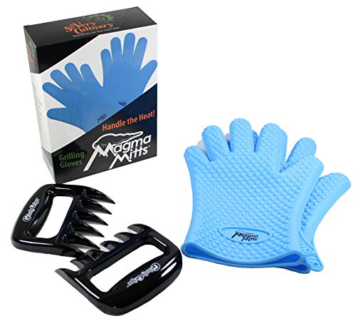 Buy Comfort Fit High Temperature Magma Mitts Silicone Grilling Gloves   Grizzly Gripz Meat Shredder ...