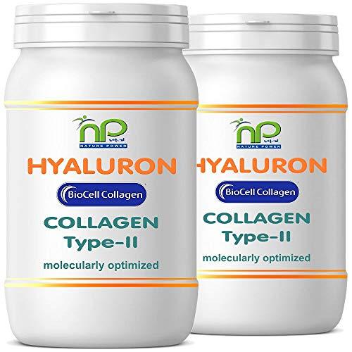NP-Vital - Biocell Collagen® oder Collagen Express Kapseln (mit Collagen-II, Hyaluronsäure) 1000mg Collagen/Tag für Haut, Haare, Gelenke (2x60 Biocell Collagen® Kapseln)
