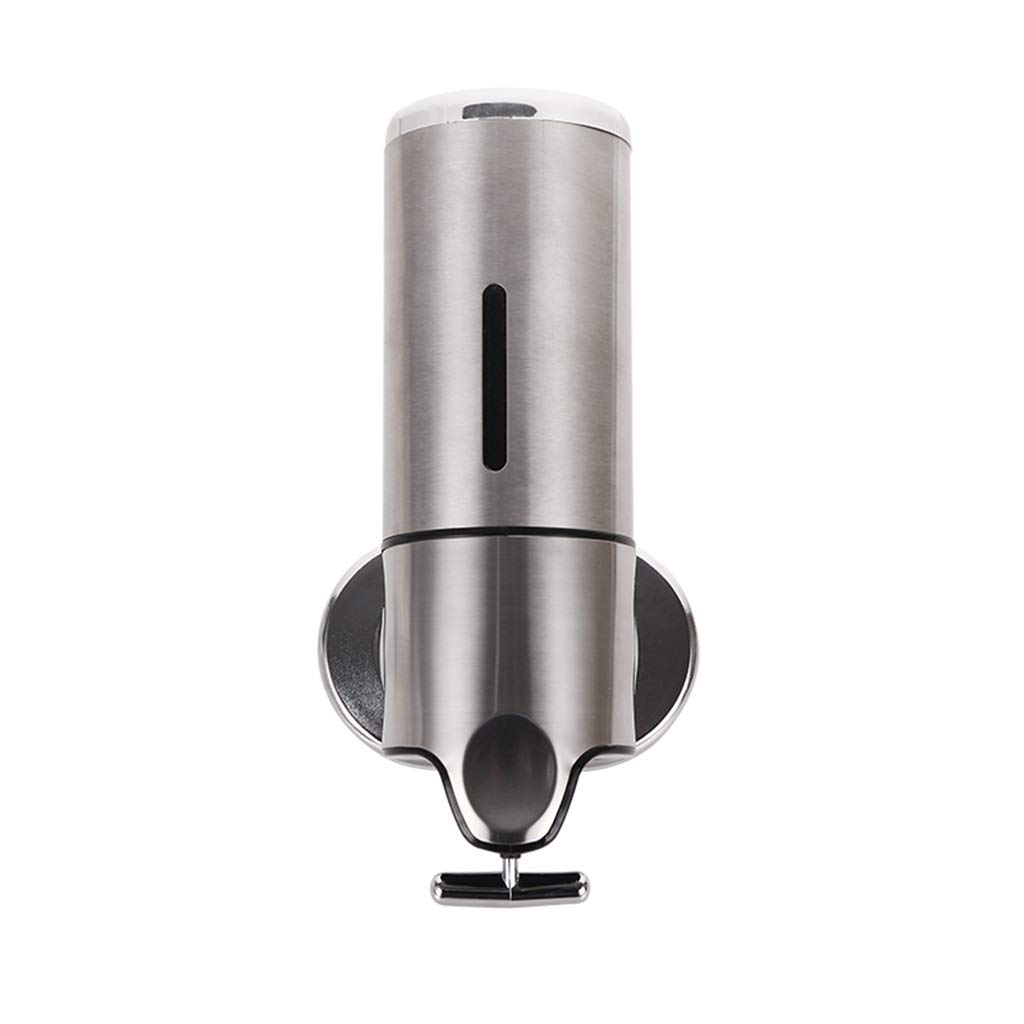 Ppy778 Soap Dispenser 304 Stainless Steel Wall-Mounted Hand sanitizer Bottle Kitchen Bathroom soap Dispenser (Color : Metallic, Size : 24.112.210CM) by Ppy778